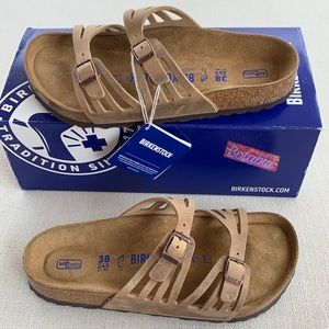 BIRKENSTOCK Granada Leather Soft Footbed Sandal 38